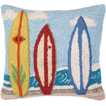 Surf Boards 16x16 Wool Pillow, Decorative Pillows