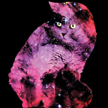 Celestial Cat - The British Shorthair & The Pelican Nebula Art Print by Zippora Lux | Society6