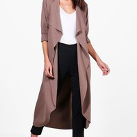Zoe Waterfall Duster | Boohoo