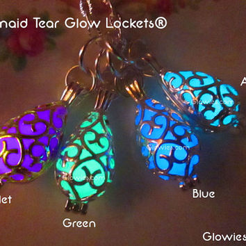Mermaid Tear Pendant Glow Locket®