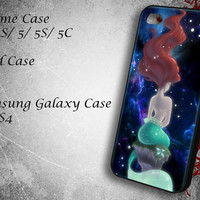 Beautiful Hair Ariel Little Mermaid Samsung Galaxy S3/ S4 case, iPhone 4/4S / 5/ 5s/ 5c case, iPod Touch 4 / 5 case