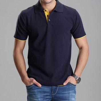 Polo Shirt Casual Men Tee Shirt Tops Cotton Slim Fit