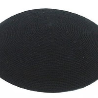 Hand Knitted Kippah - Black