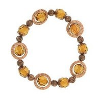 Rotating Amber Beaded Copper Bracelet: Jewelry: Amazon.com