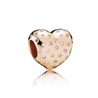Sparkle of Love Charm - Rose, heart, cubic zirconia, 781241CZ - Pandora Mall of America, Minnesota