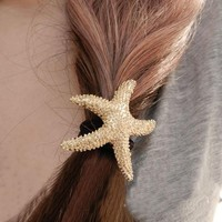 Fashion Starfish Hair Barrette - LilyFair Jewelry