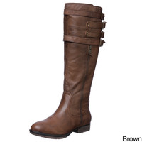 Steve Madden Womens 'P-Mikel' Leather Boots | Overstock.com