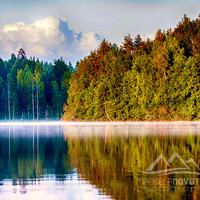 Lake photography nature photography finland scandinavia fog on lake instant download commercial use