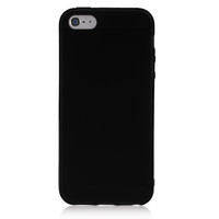 Black Solid Color TPU Case For iPhone 5 & 5S