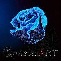 Metal Rose Blacksmith Hand Forged Gift From Metalartst On Ebay