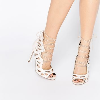 ASOS PASTIME Lace Up Heels at asos.com