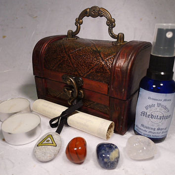 MEDITATION CHEST wicca wiccan pagan magic yoga by DevonianMists