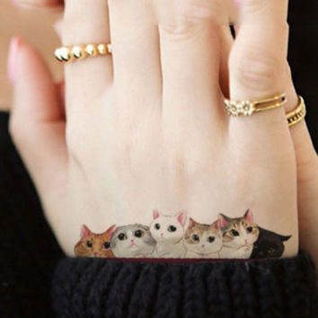Temporary  Cat Tattoo Stickers