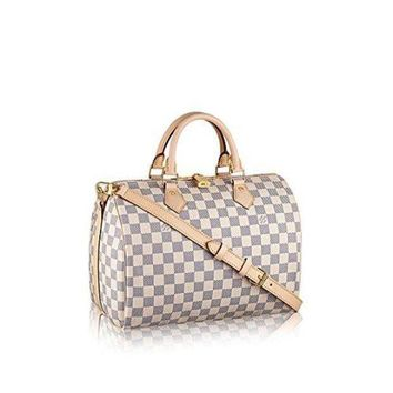 ESBUIR Louis Vuitton Damier Azur Canvas Speedy Bandouliere 30 N41373  Louis Vuitton Handbag