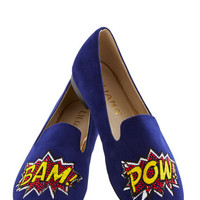ModCloth Quirky On and Onomatopoeia Flat