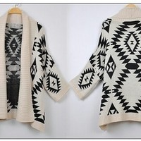 Aztec Oversized Cardigan from Basiques Boutique