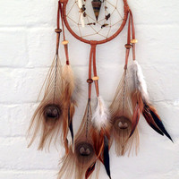 Sand Storm Light Brown Native American Dream Catcher