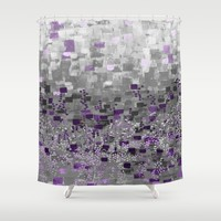 :: Purple-Rain Compote :: Shower Curtain by :: GaleStorm Artworks ::