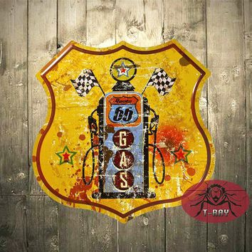 T-Ray Loft Style Vintage Retro Tin Signs decoration mural Route 66 Gas station Pub Bar Art Wall Decor A-43
