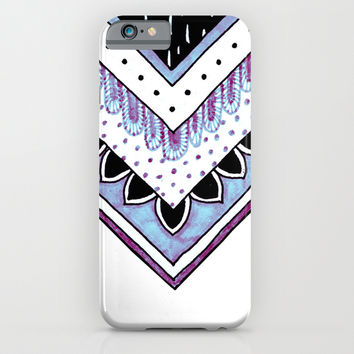 Iridescent Feathers iPhone & iPod Case by Michiko_design