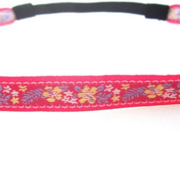 Headband,Pretty Pink Petals and Feathers, Alice, Boho Headband, Floral Headband, indie headband, hippie headband