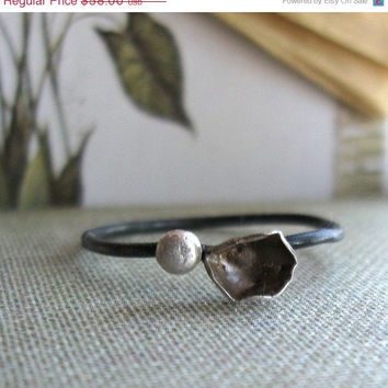 30 PERCENT OFF Engagement Ring Unique Handmade Sterling Stacking Ring