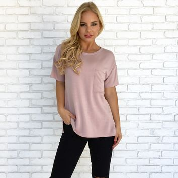 Every Little Thing Fleece Tee in Pink