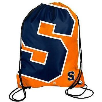 Syracuse Orange Drawstring Backpack Back Pack Sack Gym Bag NEW NCAA BIG LOGO