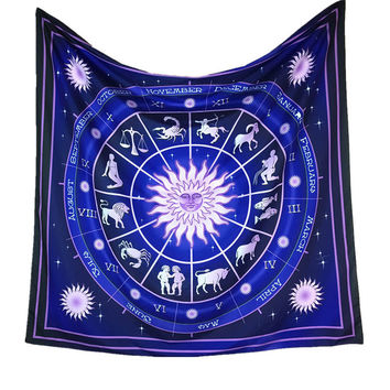 New Arrival! Hot-sale Constellation Square Decorative Tapestry Beach Throw Roundie Towel Yoga Mat Gift drop shipping Mar16