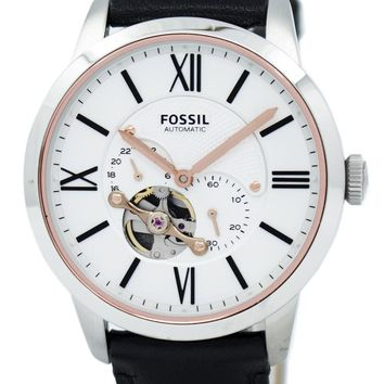 Fossil Townsman Automatic Black Leather Strap ME3104 Men's Watch