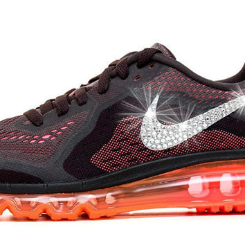 Women s Nike Air Max 360 Running Shoes By Glitter Kicks - Customized With Swarovski  Crystal Rhinestones 95b8a80949