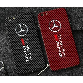 DCCKJ1A Benz carbon fiber whole package defense phone case shell  for iphone 6/6s,iphone 6p/ 6splus,iphone 7, iphone7plus