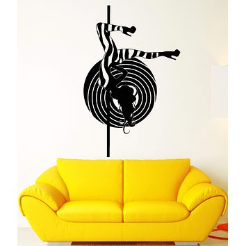 Vinyl Wall Decal Striptease Sexy Stripper Hot Naked Girl Stickers Unique Gift (2103ig)