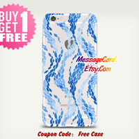 Blue Waves Clear Phone Case Cover for iPhone 6 6s plus , 6 6s , 5s 5 , 4s 4 , Pressed Clear iPhone 6 6s Case , Custom Clear iPhone 6 6s Case