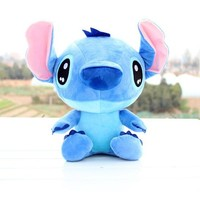 Discount 20cm Kawaii Stitch Plush Toys Anime Lilo and Stitch Soft Stuffed Animal Dolls Stich Plush Children Birthday Gift