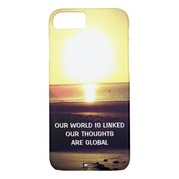 Global Photo Quote by Kat Worth iPhone 7 Case