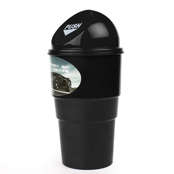 Trash Rubbish Bin Can Garbage Dust Case Storage Holder Mini Office Home Auto Vehicle Car Car Styling #HP