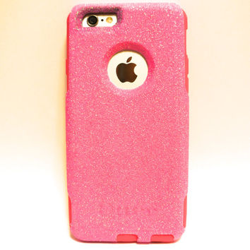 Custom iPhone 6 (4.7 inch) Glitter Otterbox Commuter Cute Case,  Custom  Glitter Pink / Bubble gum Otterbox Color Cover for iPhone 6