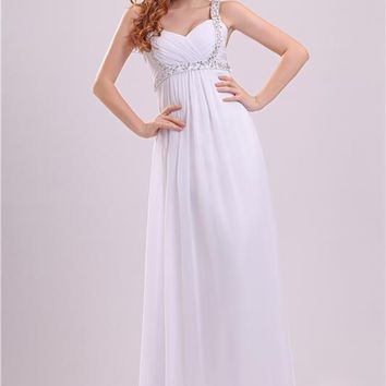 Sexy Spaghetti Straps Beach Wedding Dress 2017 Cheap Simple White Wedding Dresses Long Empire Waist Pregnant Women Party Gown