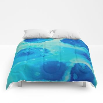 Ephemeral Pools Comforters by DuckyB