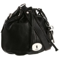 Fossil  Maddox Drawstring ZB5034 Hobo,Black,One Size