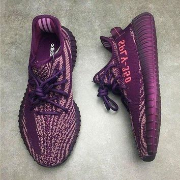 Adidas Yeezy Boost 350 V2 Trending Women Men Leisure Sport Running Shoe Sneakers Purple I-1