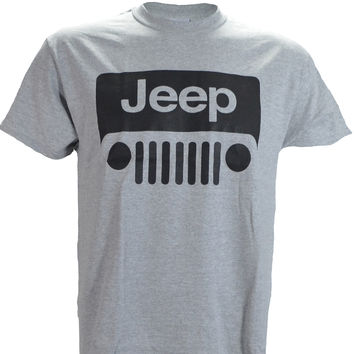 Jeep Wrangler Logo on a Sports Grey T Shirt