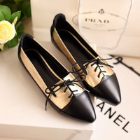 Summer Korean Leather Pointed Toe Casual Shoes [4919914500]