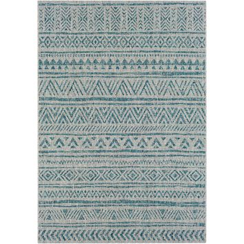 Eagean ll Indoor Outdoor Rug | Aqua