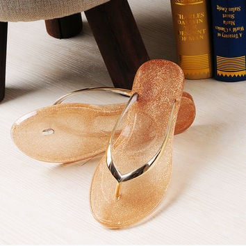 size5-10 2016 New Flip Flops Women Sandals Female Drag Sandals jelly Sandals Women Slippers