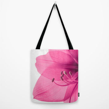 Pink Floral Tote Bag, Original Accessories, Art, Beach Bag, Handbag, Grocery Bag, Flower Botanical Photography Gifts, Shopping, Book Tote