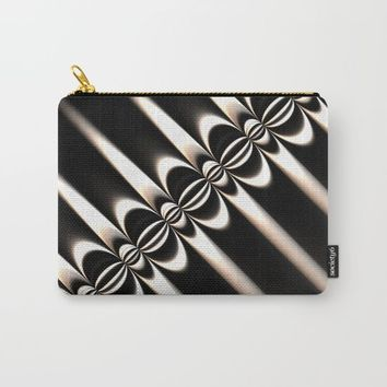 Black and White Diagonal Carry-All Pouch by Lyle Hatch