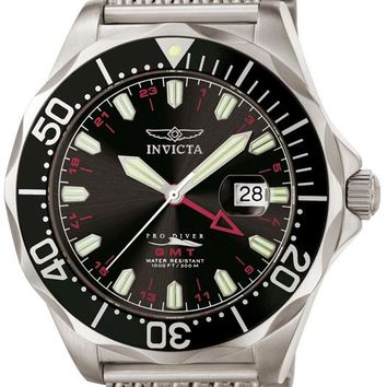 Invicta 6349 Men's Grand Pro Diver GMT Mesh Stainless Steel Watch