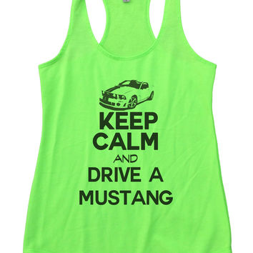 Keep Calm And Drive A Mustang Womens Workout Tank Top 2119